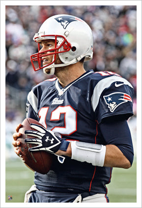 "Tom Brady ""Iconic"" Poster Perfection Collection New England Patriots Premium 24x36 Poster Print - Photofile"