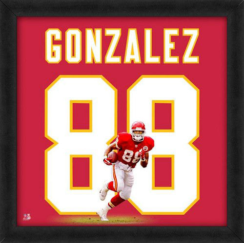 "Tony Gonzalez ""Number 88"" Kansas City Chiefs NFL FRAMED 20x20 UNIFRAME PRINT - Photofile"