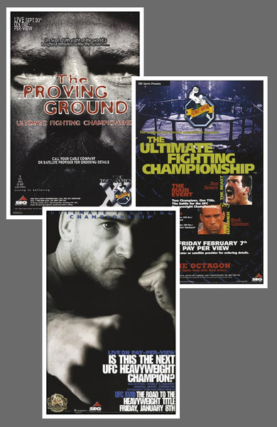 "UFC #11, #12, #18 Official Event Poster Reproductions Set (13""x19"") - Pyramid America"