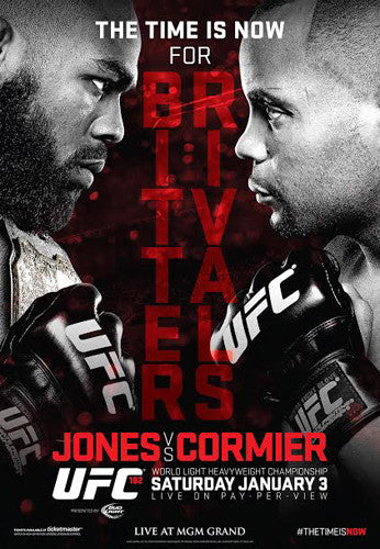 UFC 182 Official Event Poster (Jon Jones vs. Daniel Cormier) - Las Vegas 1/3/2015
