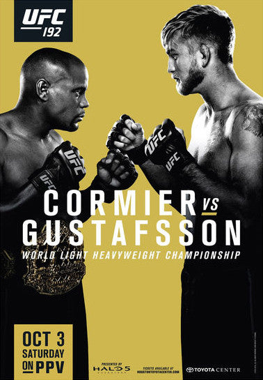UFC 192 Official Event Poster (Cormier vs Gustafsson) Houston, TX 10/3/2015