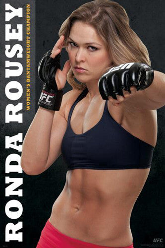 Ronda Rousey Women's Bantamweight Champion Official UFC Commemorative Poster