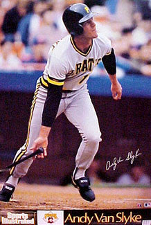 "Andy Van Slyke ""Signature"" Pittsburgh Pirates Poster - Marketcom/S.I. 1989"