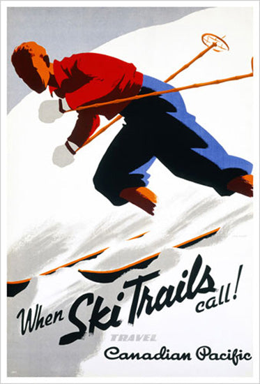 "Canadian Pacific ""When Ski Trails Call!"" (1937) Vintage Poster Reprint - Eurographics"