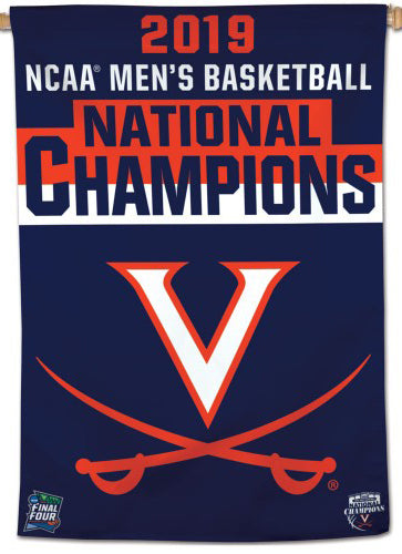 Virginia Cavaliers 2019 NCAA Basketball Champions Official Wall BANNER Flag - Wincraft Inc.