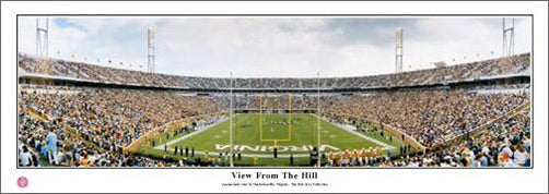 "Virginia Cavaliers Football ""View From The Hill"" Scott Stadium Panoramic Poster Print - Everlasting Images"