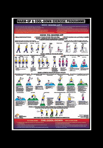 Warm-Up and Cool-Down Fitness Instructional Wall Chart - Chartex