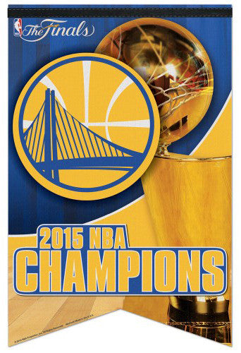 Golden State Warriors 2015 NBA Champions Premium Felt Banner - Wincraft Inc.
