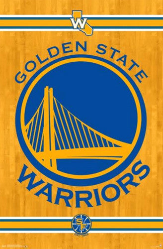 Golden State Warriors NBA Basketball Official Team Logo Poster - Trends International