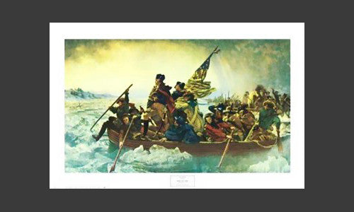Washington Crossing the Delaware by Emanuel Leutze (1816-1868) Poster Print - NYGS