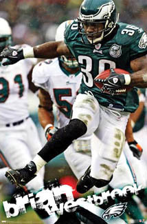 "Brian Westbrook ""Action"" Philadelphia Eagles NFL Poster - Costacos 2008"