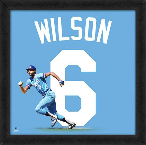 "Willie Wilson ""Number 6"" Kansas City Royals MLB FRAMED 20x20 UNIFRAME PRINT - Photofile"