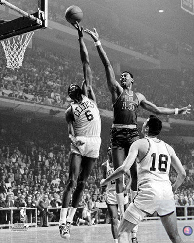 Wilt Chamberlain vs. Bill Russell 1967 Playoff Classic Premium Poster - Photofile Inc.