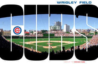 "Wrigley Field Gameday ""CUBS"" Chicago Cubs Baseball Poter - Costacos Sports"