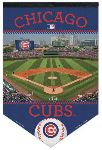 Chicago Cubs Wrigley Field Gameday Premium Felt Collector's Banner - Wincraft