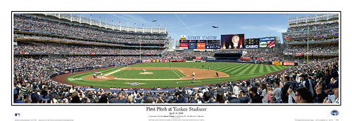 First Pitch at New Yankee Stadium (April 16, 2009) Panoramic Poster Print - Everlasting
