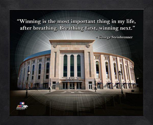 "George Steinbrenner ""Winning"" Yankee Stadium New York Yankees FRAMED 16x20 PRO QUOTES PRINT"