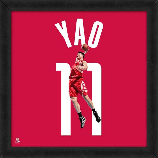 "Yao Ming ""Number 11"" Houston Rockets Classic NBA FRAMED 20x20 UNIFRAME PRINT - Photofile"