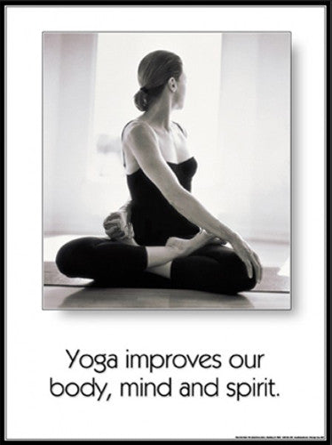 "Yoga ""Body, Mind and Spirit"" Motivational Poster - Fitnus"