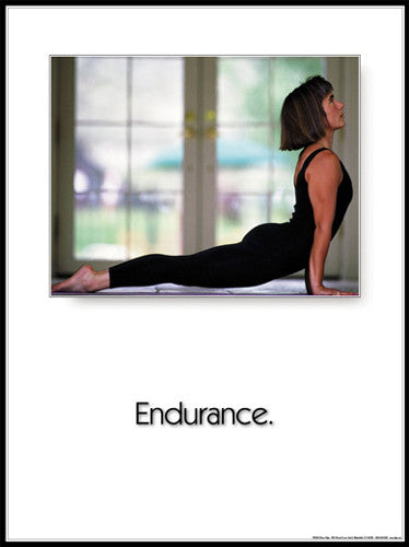 "Yoga ""Endurance"" Motivational Poster - Fitnus Corp."