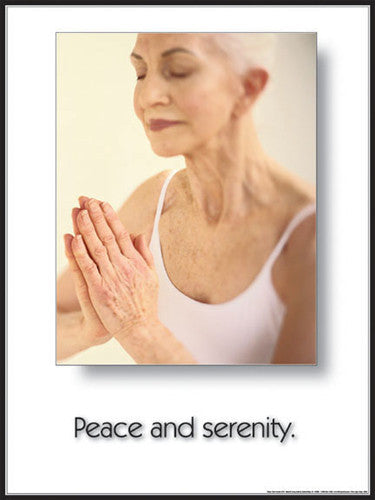 "Yoga ""Peace and Serenity"" (Meditation) Poster - Fitnus"