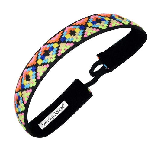 Alpaca Punch | Neon, Black | 1 Inch Sweaty Bands