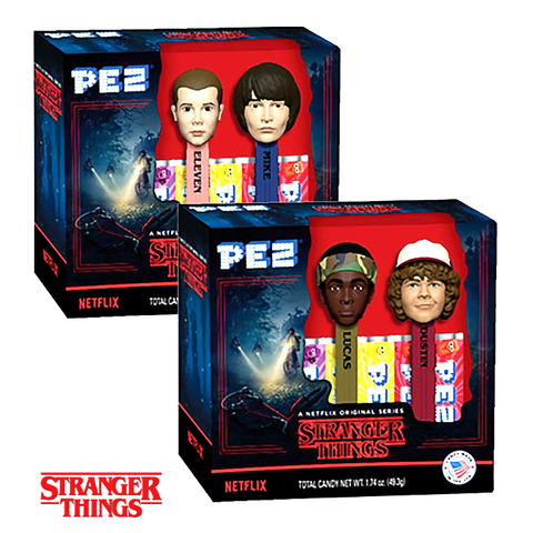 PEZ - Stranger Things Twin Pack Gift Set-Half Nuts-Lucas and Dustin-Half Nuts
