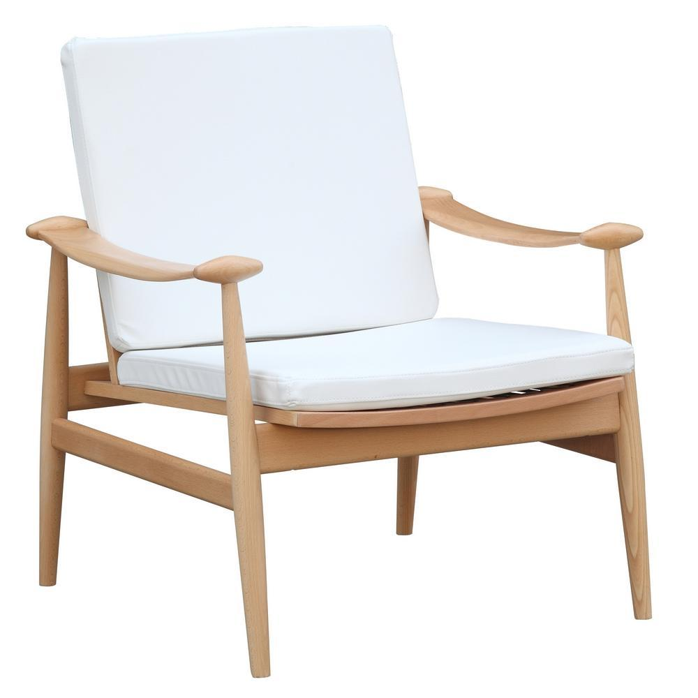 White Vogel Lounge Chair