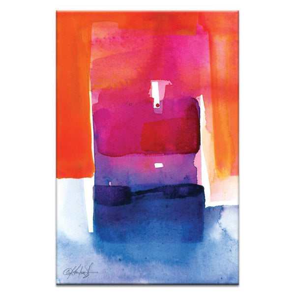 "Artwork 20x30x1.5"" Watercolor Abstraction 205 Artwork by Kathy Morton Stanion"