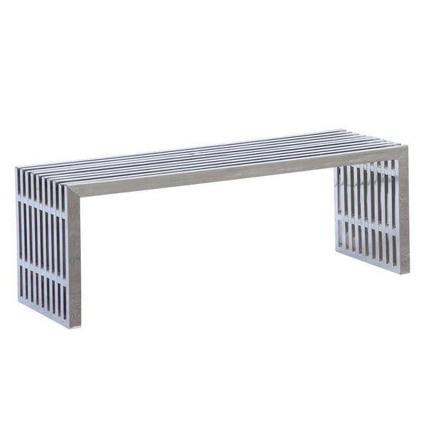 Silver Zeta Stainless Steel Bench Long