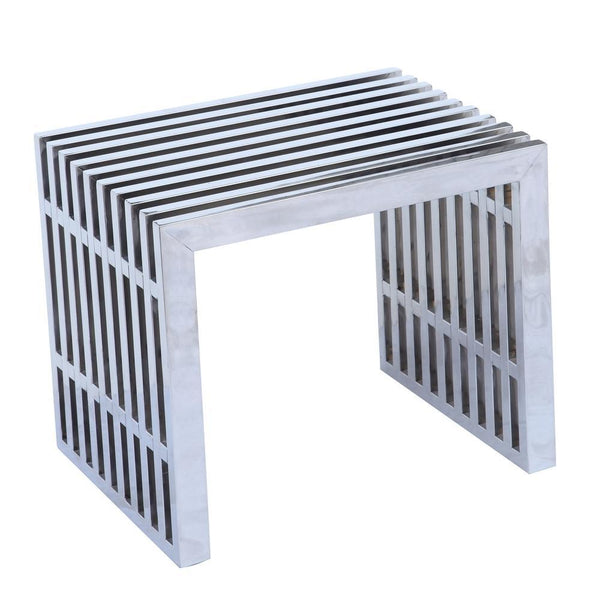 Silver Zeta Stainless Steel Bench Short
