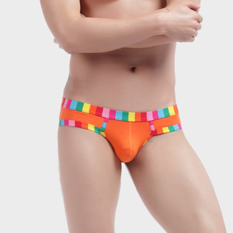 RAINBOW STRIPE MEN'S BRIEFS