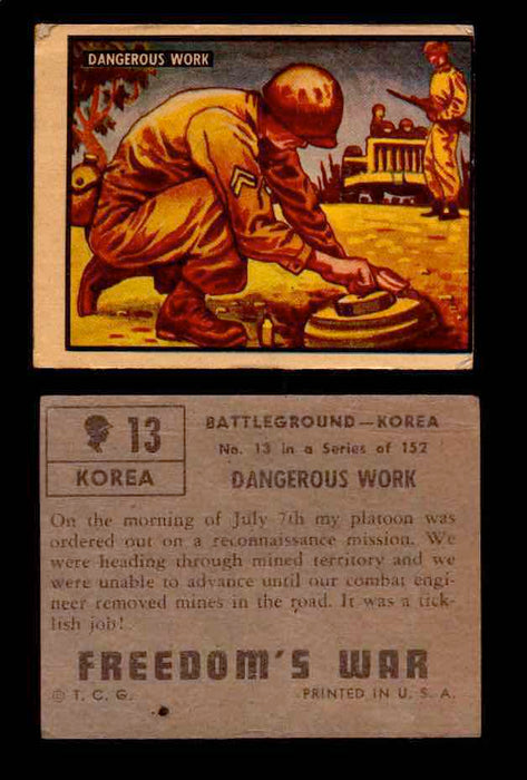 1950 Freedom's War Korea Topps Vintage Trading Cards You Pick Singles #1-100 #13  - TvMovieCards.com