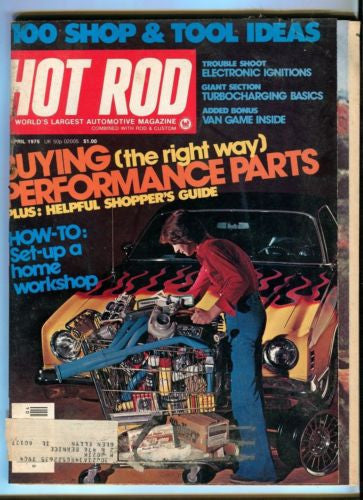 1976 April Hot Rod Magazine Back Issue - Buying Performance Parts Shoppers Guide   - TvMovieCards.com