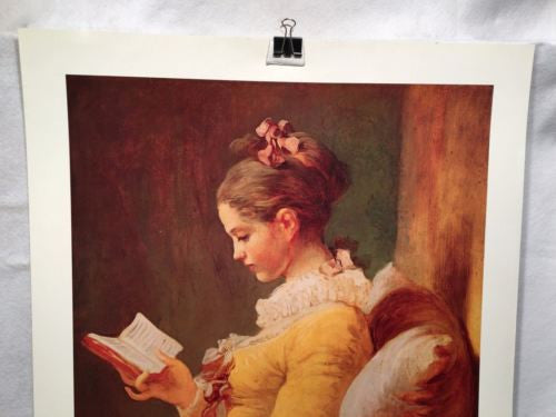 A Young Girl Reading - Jean Honore Fragonard - Harrads Fine Art Poster 29 x 22   - TvMovieCards.com