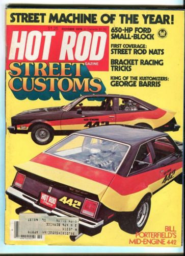 1978 October Hot Rod Magazine Back Issue - Street Customs - George Barris   - TvMovieCards.com