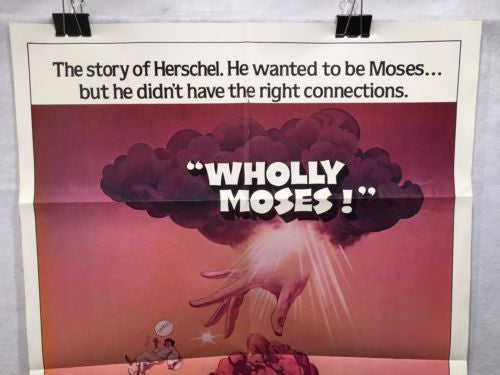 "Original 1980 ""Wholly Moses"" 1 Sheet Movie Poster 27""x 41"" Dudley Moore   - TvMovieCards.com"