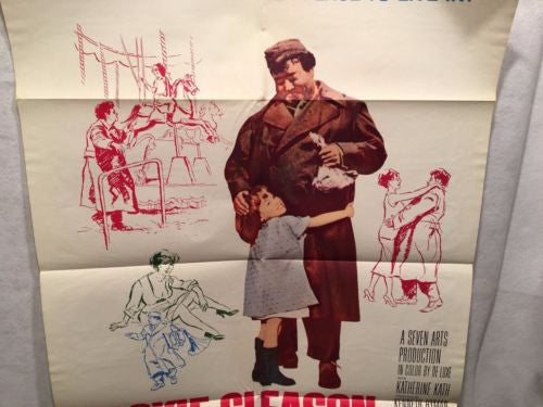 "Original 1962 ""Gigot"" Jackie Gleason One Sheet Movie Poster 27x41   - TvMovieCards.com"