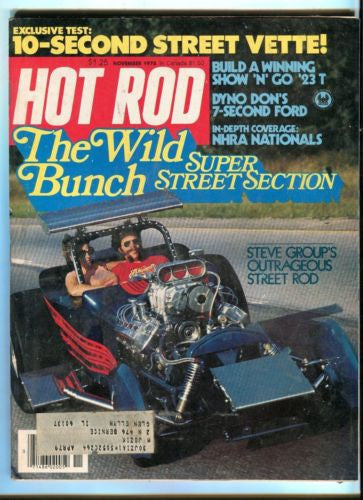 1978 November Hot Rod Magazine Back Issue - Wild Bunch Super Street Section   - TvMovieCards.com