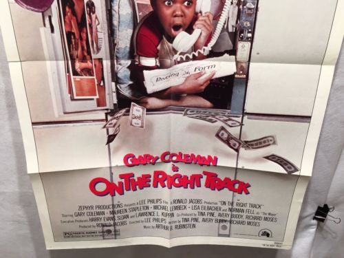 "Original 1981 ""On The Right Track"" 1 Sheet Movie Poster 27""x 41"" Gary Coleman   - TvMovieCards.com"