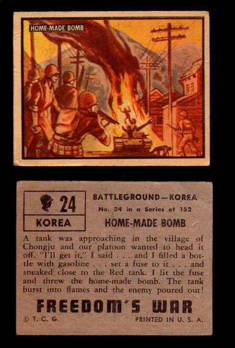 1950 Freedom's War Korea Topps Vintage Trading Cards You Pick Singles #1-100 #24  - TvMovieCards.com