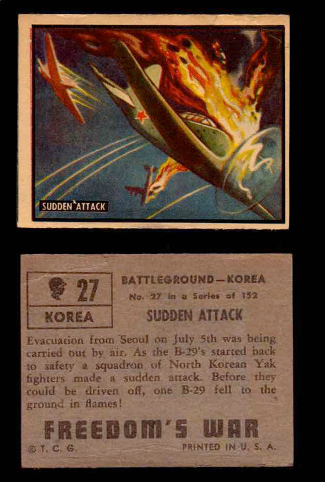 1950 Freedom's War Korea Topps Vintage Trading Cards You Pick Singles #1-100 #27  - TvMovieCards.com