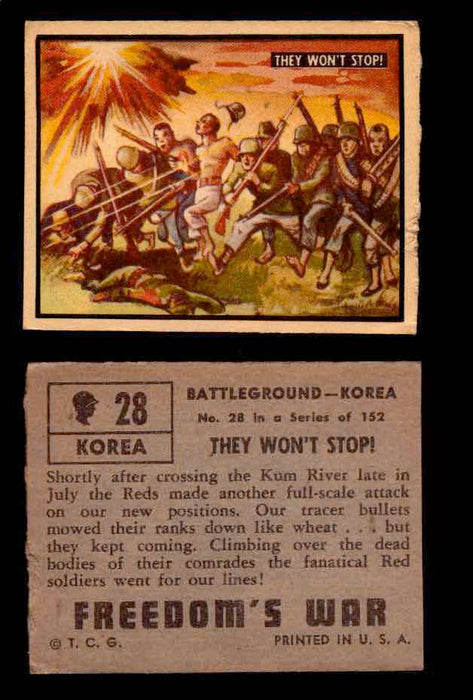 1950 Freedom's War Korea Topps Vintage Trading Cards You Pick Singles #1-100 #28  - TvMovieCards.com