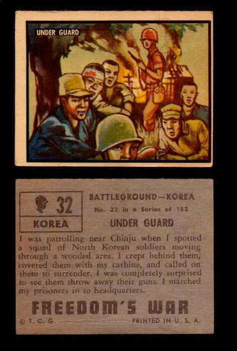 1950 Freedom's War Korea Topps Vintage Trading Cards You Pick Singles #1-100 #32  - TvMovieCards.com