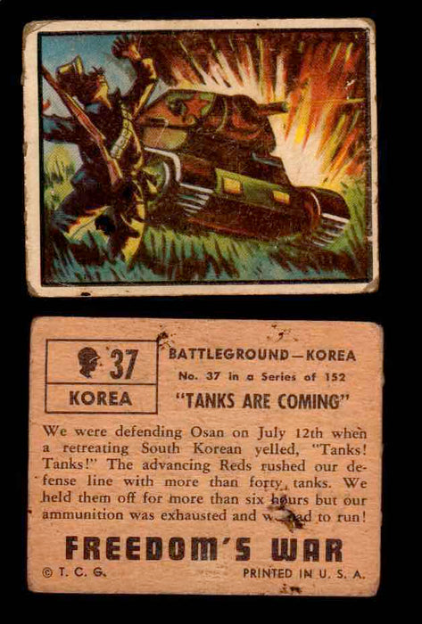 1950 Freedom's War Korea Topps Vintage Trading Cards You Pick Singles #1-100 #37  - TvMovieCards.com