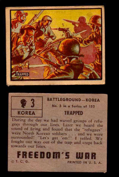 1950 Freedom's War Korea Topps Vintage Trading Cards You Pick Singles #1-100 #3  - TvMovieCards.com