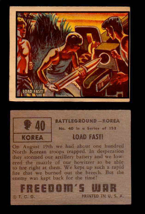 1950 Freedom's War Korea Topps Vintage Trading Cards You Pick Singles #1-100 #40  - TvMovieCards.com