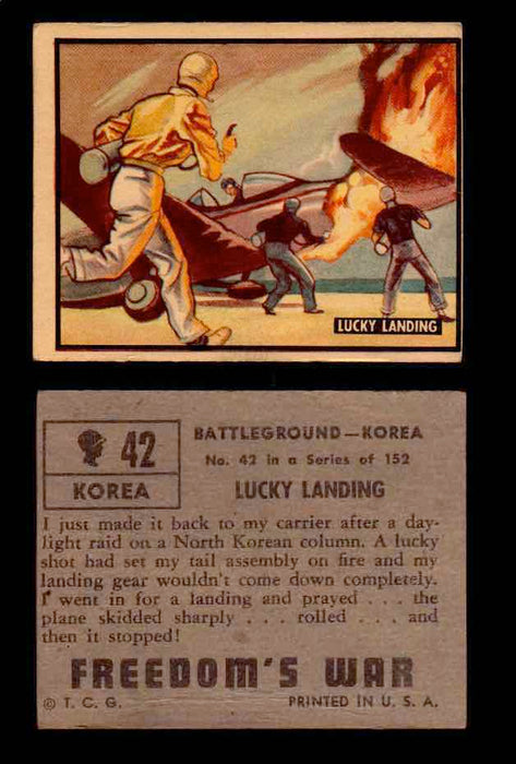 1950 Freedom's War Korea Topps Vintage Trading Cards You Pick Singles #1-100 #42  - TvMovieCards.com
