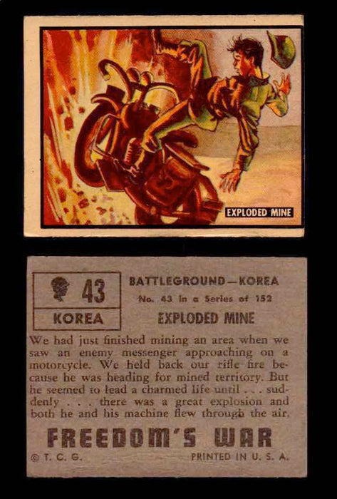 1950 Freedom's War Korea Topps Vintage Trading Cards You Pick Singles #1-100 #43  - TvMovieCards.com