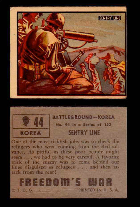 1950 Freedom's War Korea Topps Vintage Trading Cards You Pick Singles #1-100 #44  - TvMovieCards.com